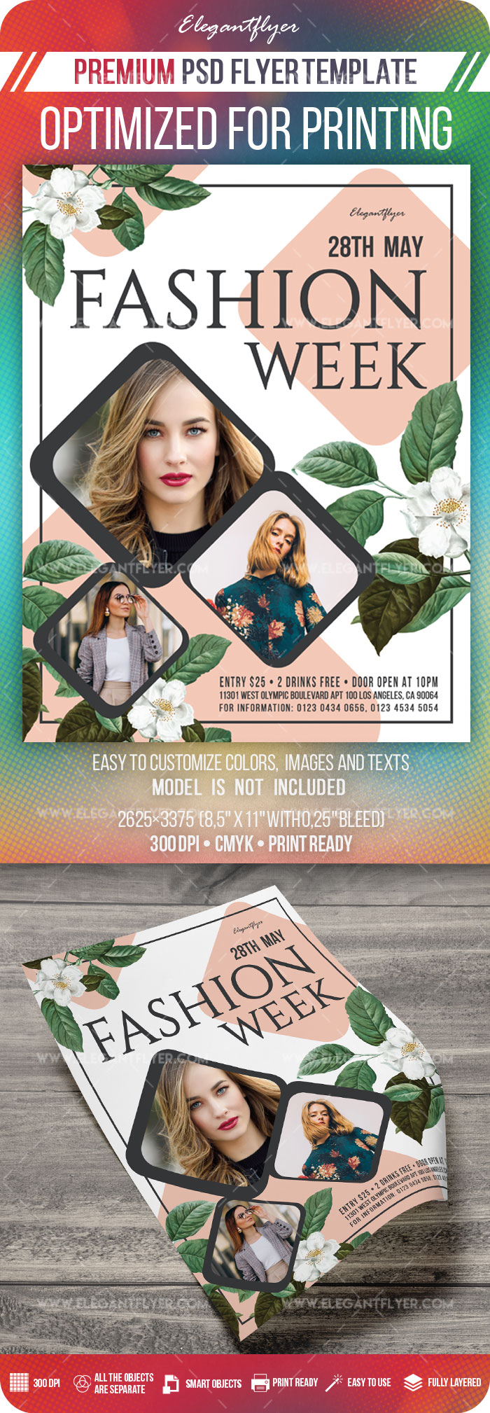 Fashion Week – Flyer Template in PSD
