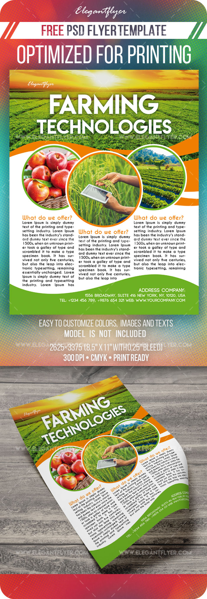 Farming Technologies – Free Flyer Template in PSD