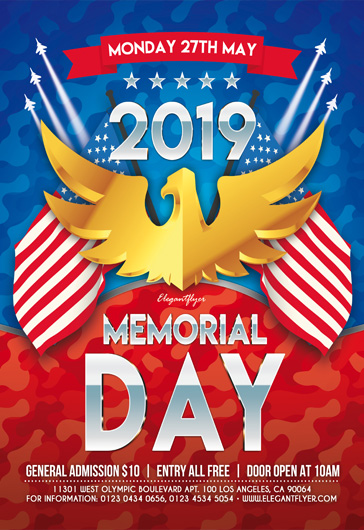 image relating to Closed Memorial Day Sign Printable called Totally free Memorial Working day Flyer Templates within PSD as a result of ElegantFlyer