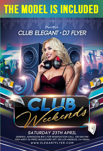 Club Weekends – Flyer PSD Template