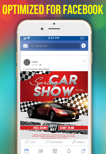 Spring Car Show – Flyer PSD Template