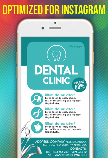 Dental Clinic – Free Instagram Stories Template in PSD + Post Templates