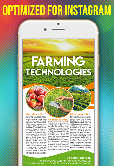 Farming Technologies – Free Instagram Stories Template in PSD + Post Templates