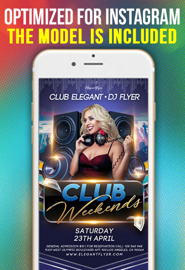 Club Weekends – Instagram Stories Template in PSD + Post Templates