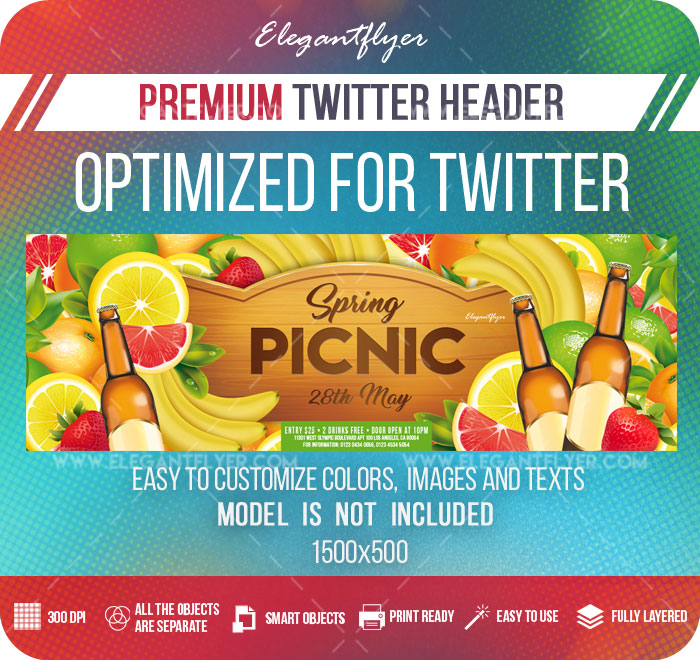 Spring Picnic – Twitter Header PSD Template
