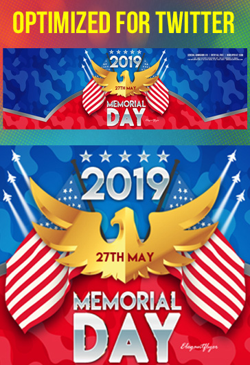 Memorial Day – Free YouTube Channel Banner PSD Template