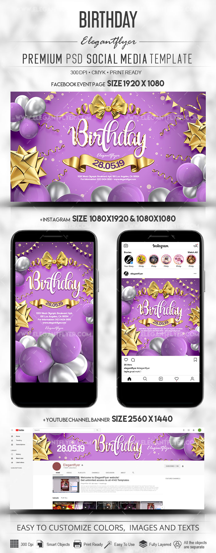 Birthday – Social Media PSD Bundle