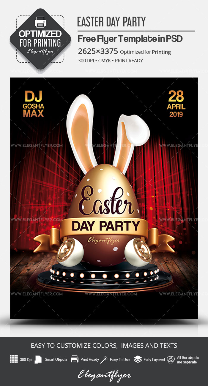 Easter Day Party – Free PSD Flyer Template