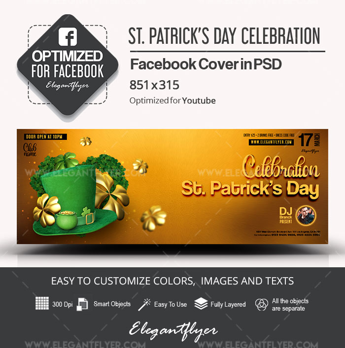St. Patrick's Day Celebration – Facebook Cover PSD Template