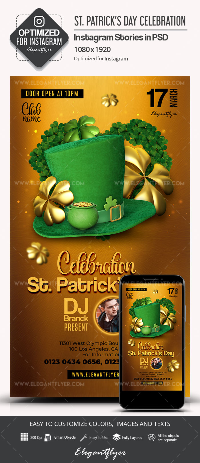 st  patrick u2019s day celebration  u2013 instagram stories psd