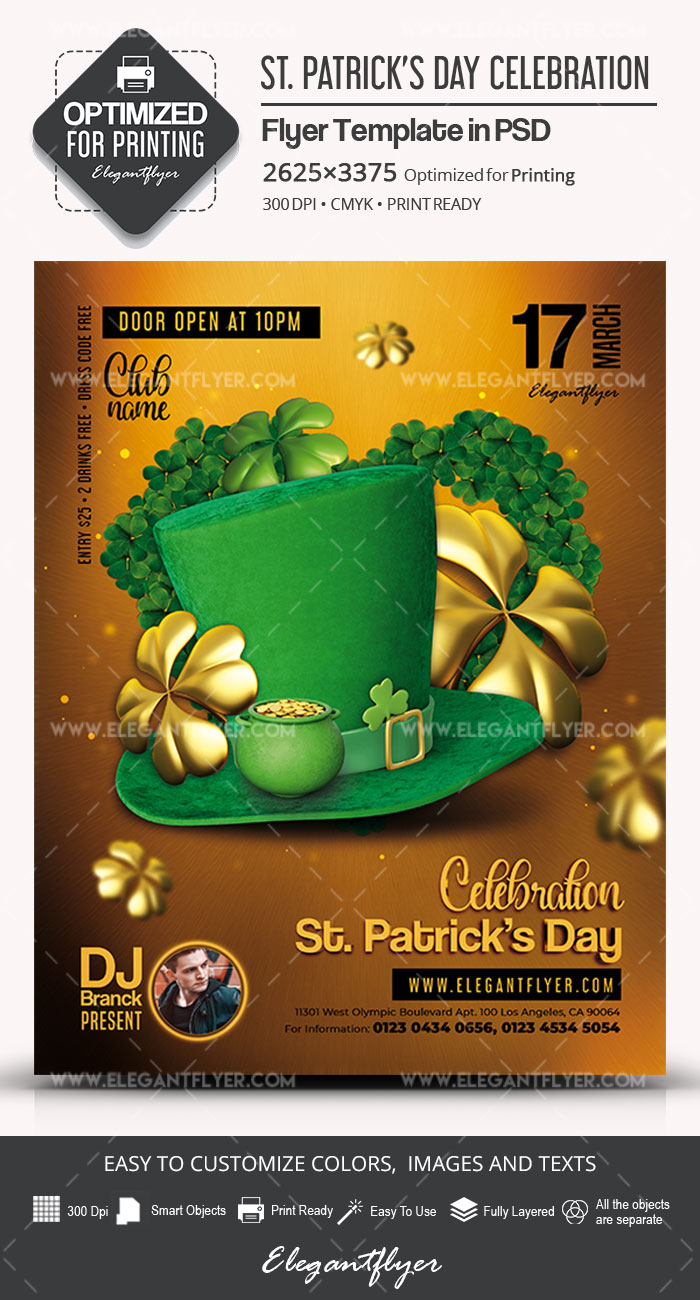 st  patrick u2019s day celebration  u2013 flyer psd template  u2013 by