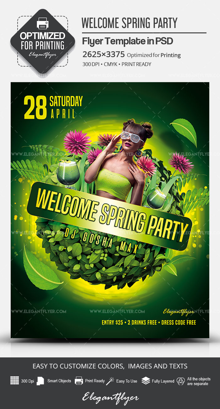Welcome Spring Party – Flyer PSD Template