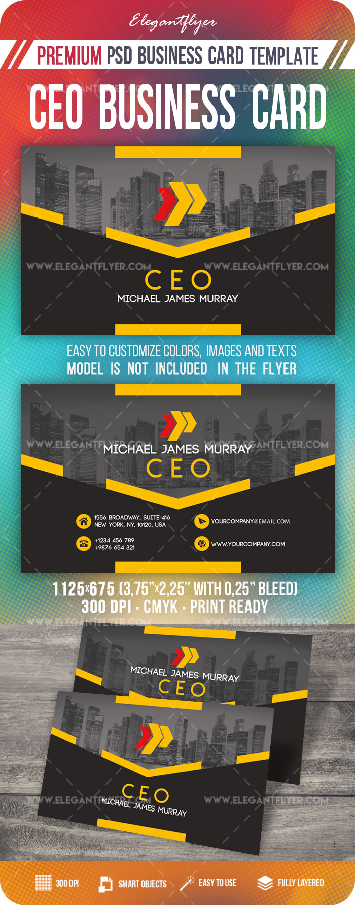 CEO – Business Card PSD Template