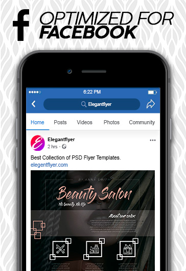 Beauty Salon – Facebook Cover Template in PSD + Post + Event cover