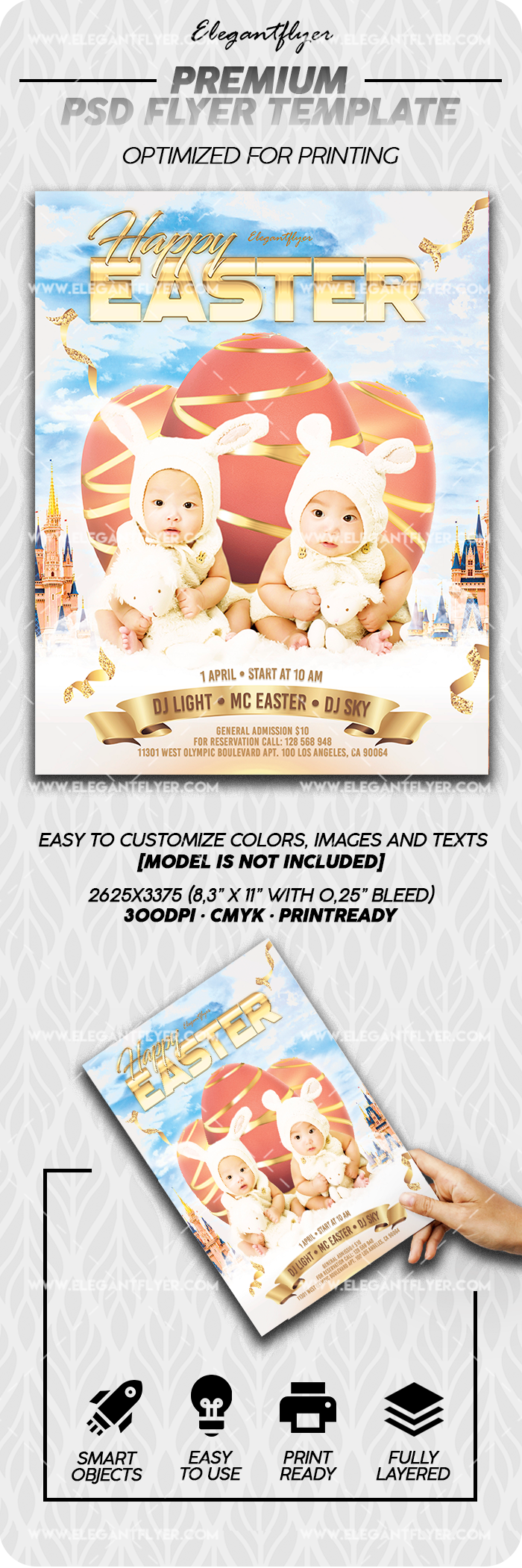Happy Easter – PSD Flyer Template