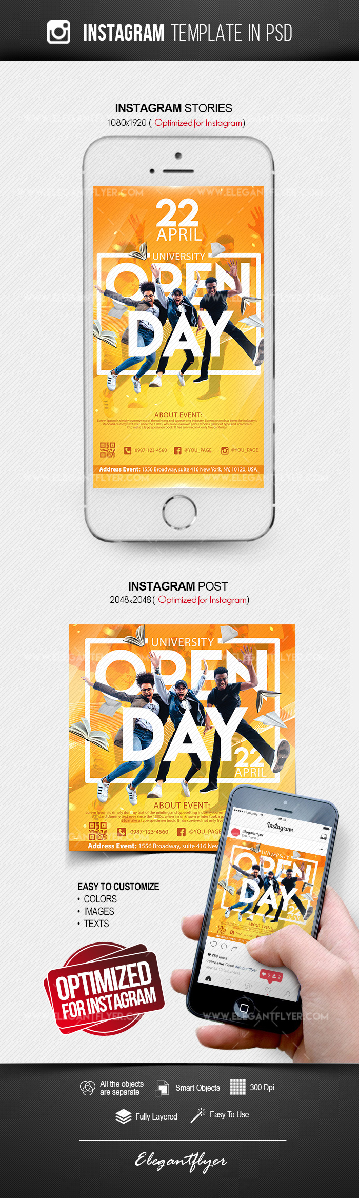 University Open Day – Free Instagram Stories Template in PSD + Post Templates