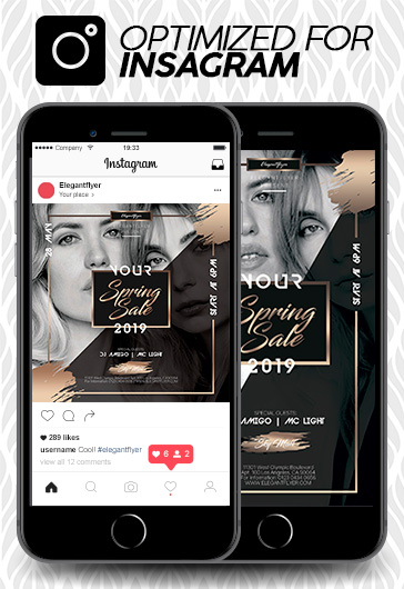Spring Mid Sale – Instagram Stories Template in PSD + Post Templates