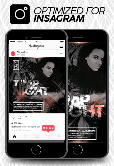 Trap Night – Instagram Stories Template in PSD + Post Templates