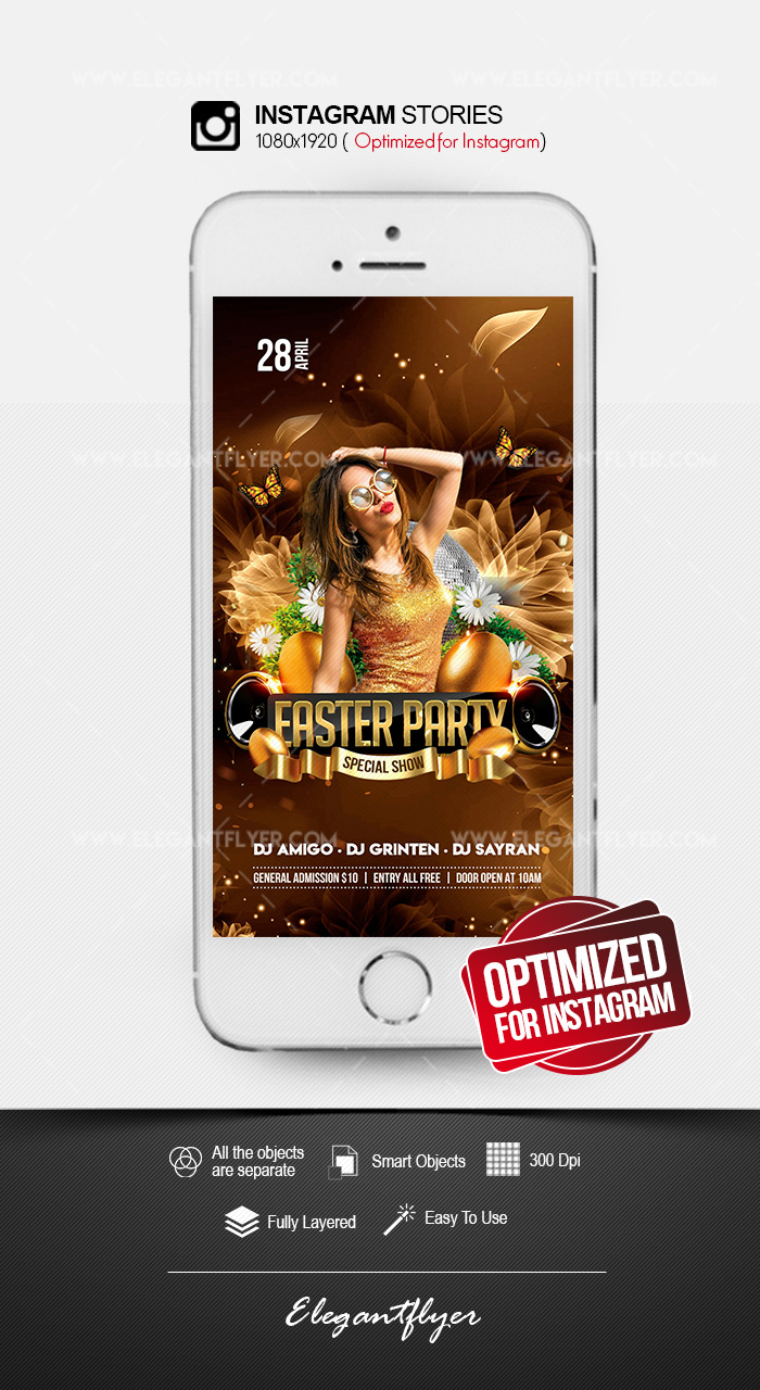 Easter Party – Instagram Stories PSD Template