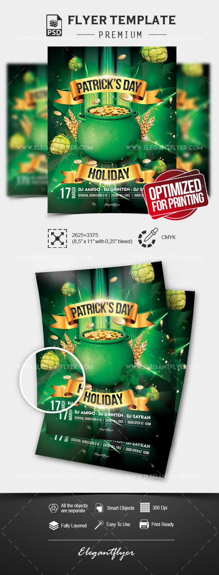st  patrick u2019s day holiday  u2013 flyer psd template  u2013 by