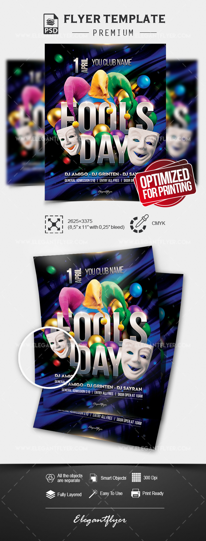 Fool's Day – Flyer PSD Template