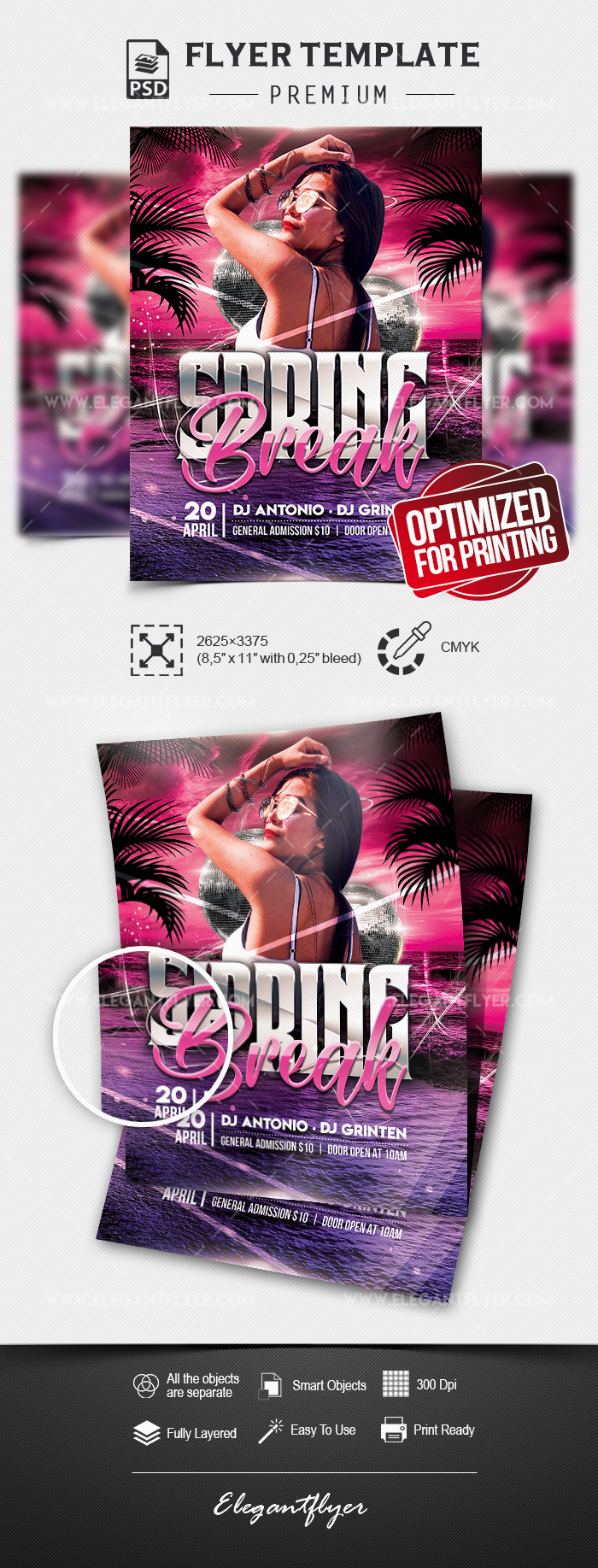 Spring Break Party – Flyer PSD Template