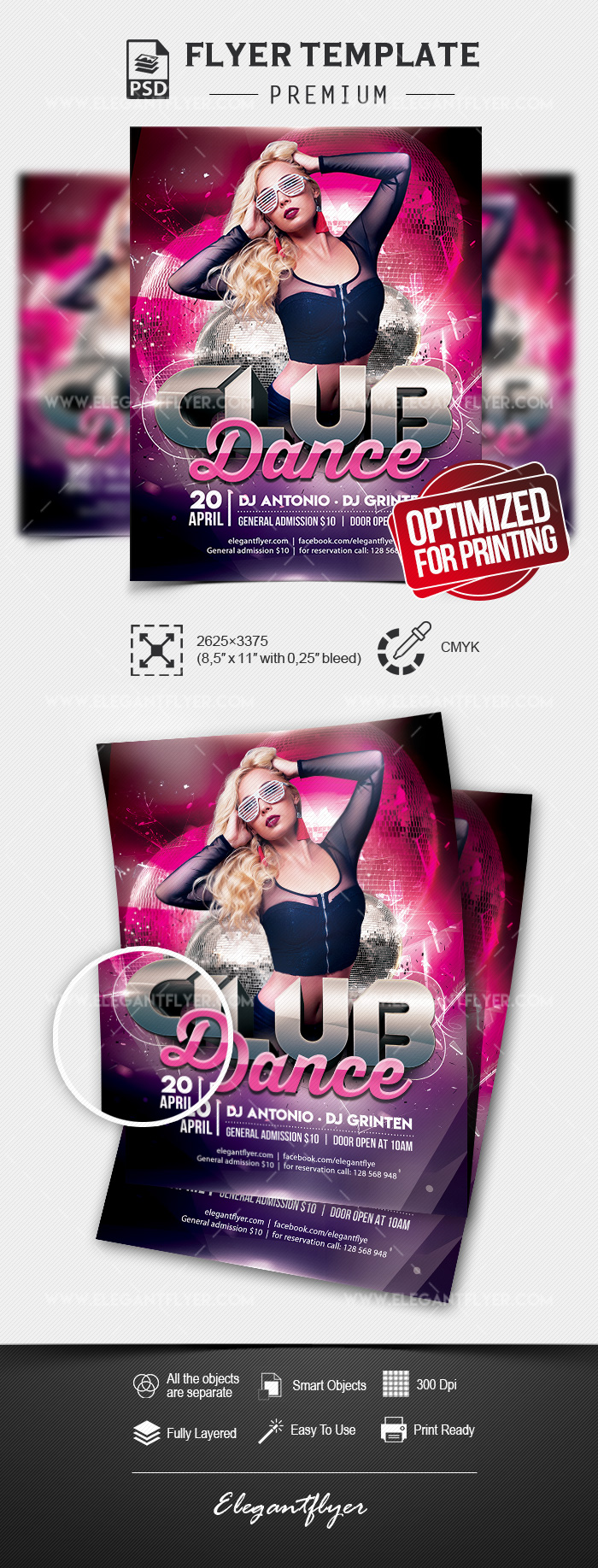 Club Dance – Flyer PSD Template