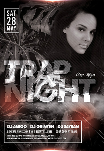 Trap Night – Flyer Template in PSD