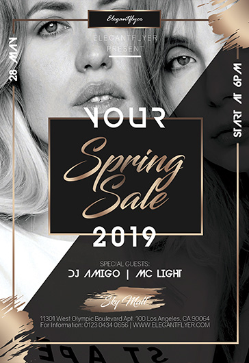 Spring Mid Sale – PSD Flyer Template