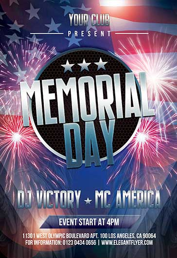 Memorial Day – Flyer Template in PSD