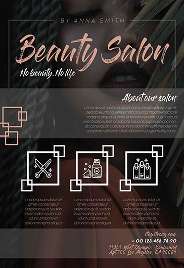 Beauty Salon – PSD Flyer Template