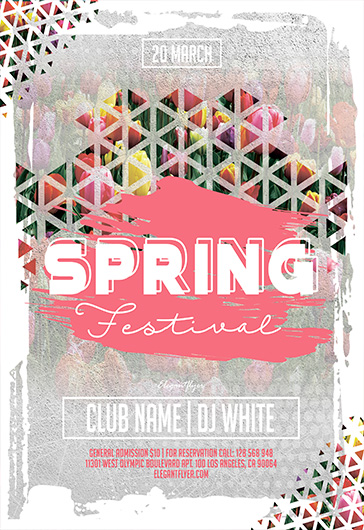 Spring City Festival – Free Flyer PSD Template
