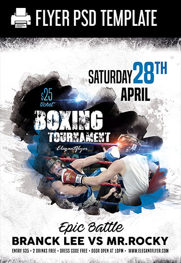 Boxing Tournament – PSD Flyer Template
