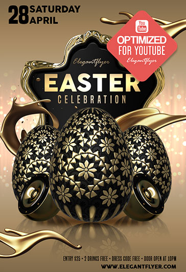 Easter Celebration – Youtube Channel banner PSD Template