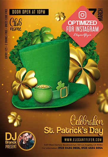 St. Patrick's Day Celebration – Instagram Stories PSD Template