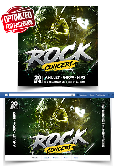 Rock Concert – Free Animated Instagram Stories + Instagram Post + Facebook Cover