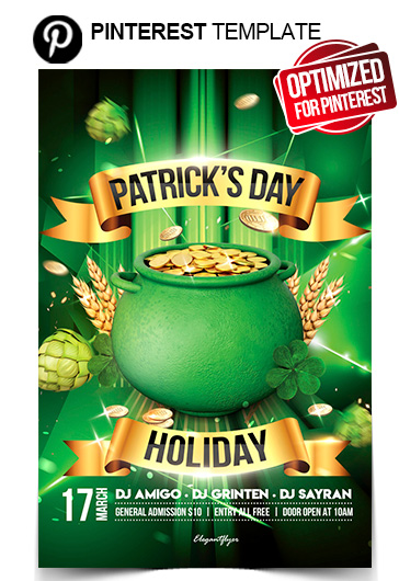 St. Patrick's Day Holiday – Flyer PSD Template