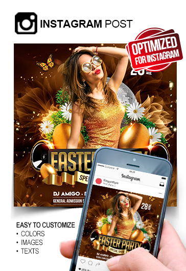 Easter Party – Instagram Post PSD Template