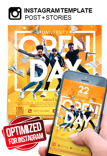 University Open Day – Free Flyer PSD Template