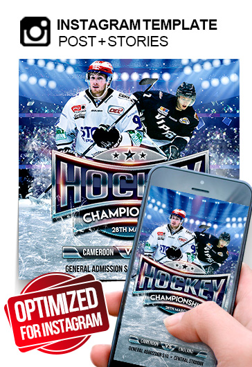 Ice Hockey World Championships – Instagram Stories Template in PSD + Post Templates