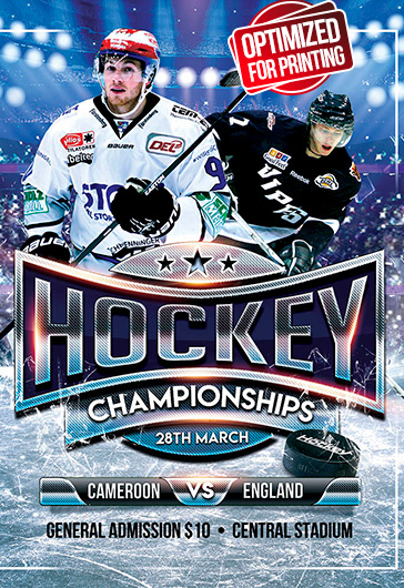 Ice Hockey World Championships – Flyer PSD Template