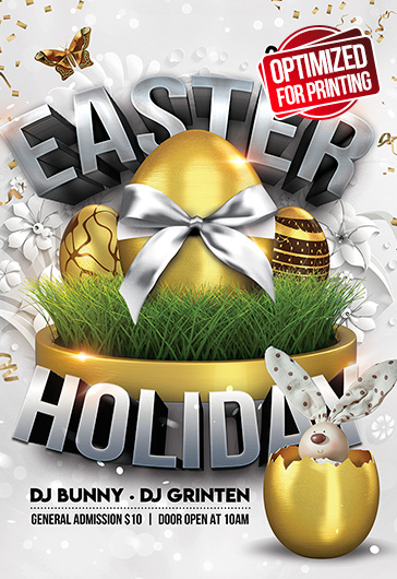 Easter Holiday – Flyer PSD Template
