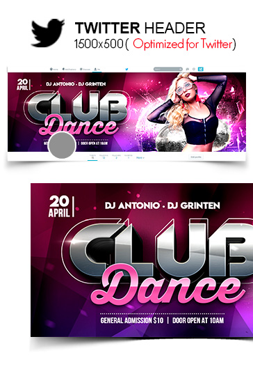 Club Dance – Instagram Stories Template in PSD + Post Templates