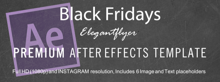 Black Fridays After Effects Template