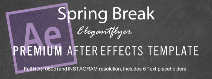 Spring Break After Effects Template