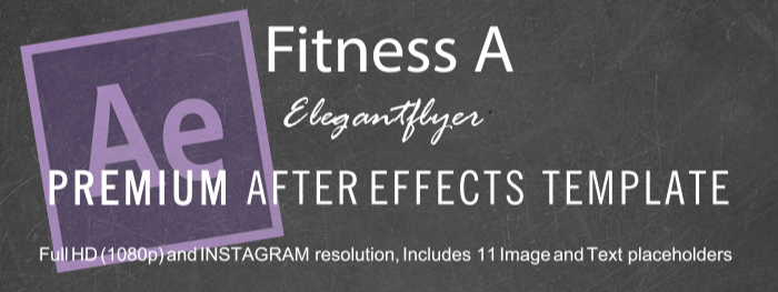Fitness A After Effects Template