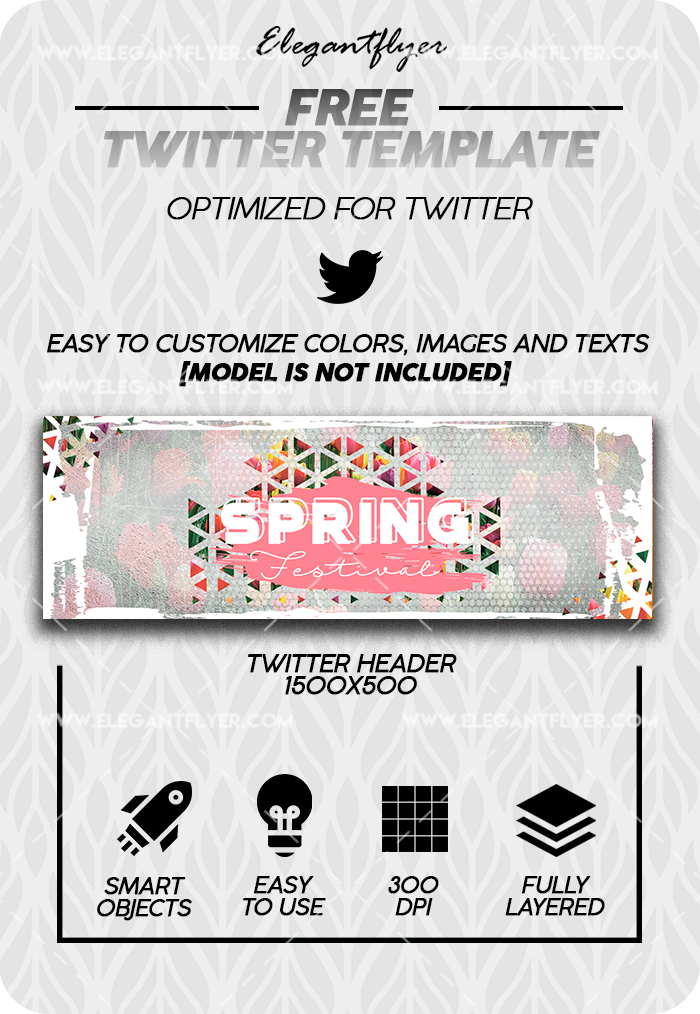 Spring Festival – Free Twitter Channel banner PSD Template