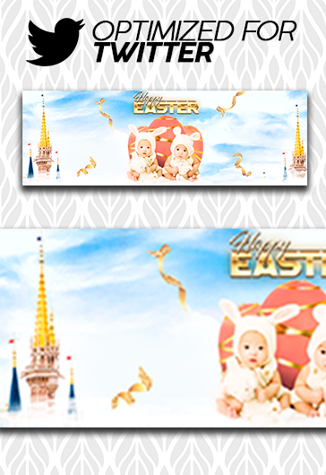 Happy Easter – Facebook Cover Template in PSD + Post + Event cover