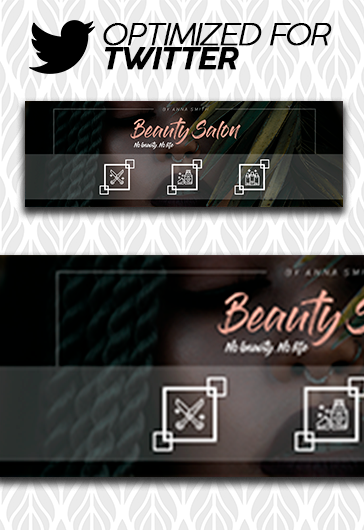 Beauty Salon – Twitter Channel banner PSD Template
