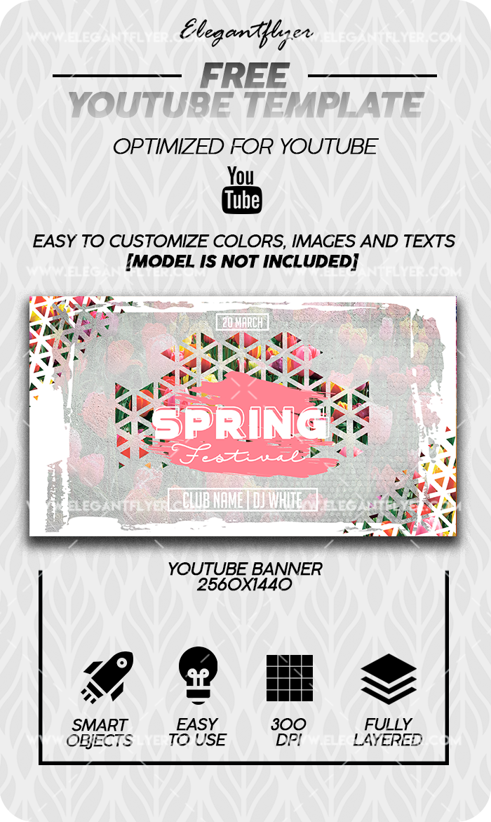Spring Festival – Free Youtube Channel banner PSD Template